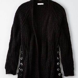 AE Don't Ask Why Lace-Up Side Cardigan